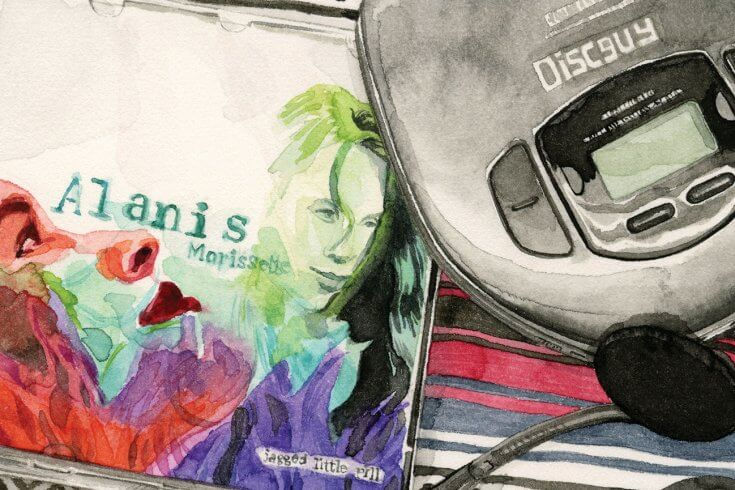 CD player and jagged little pill