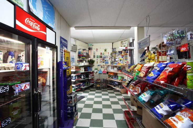 Fake convenience store at Venice Biennale