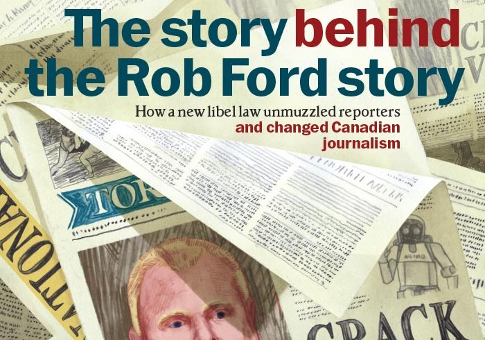 Illustration of Rob Ford on the front page of the Toronto Star