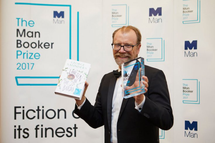 George Saunders celebrates receiving the man booker prize