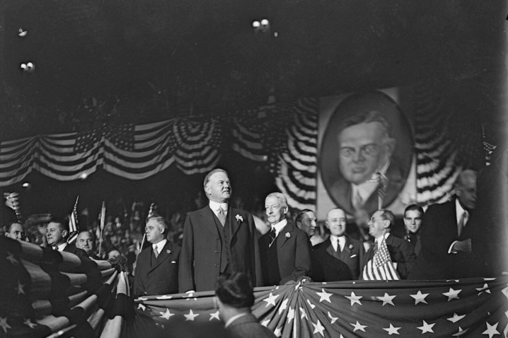 Herbert Hoover Campaigning for president