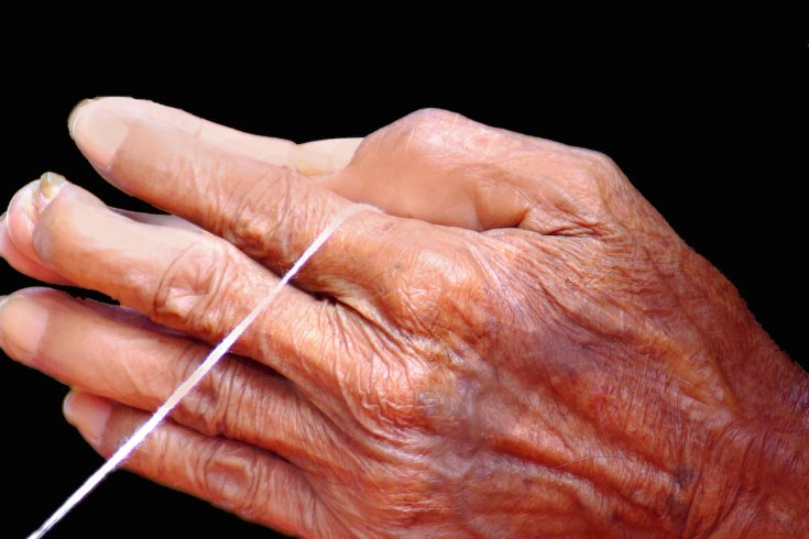 Hand of an elderly person
