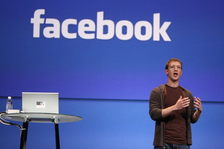 Mark zuckerberg on stage at a facebook event