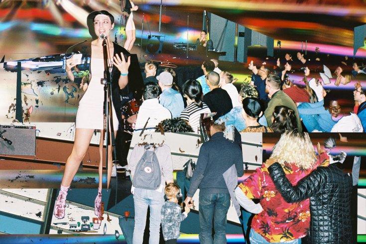 The crowd at Venus Fest in Toronto.