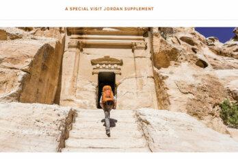 man entering temple in jordan