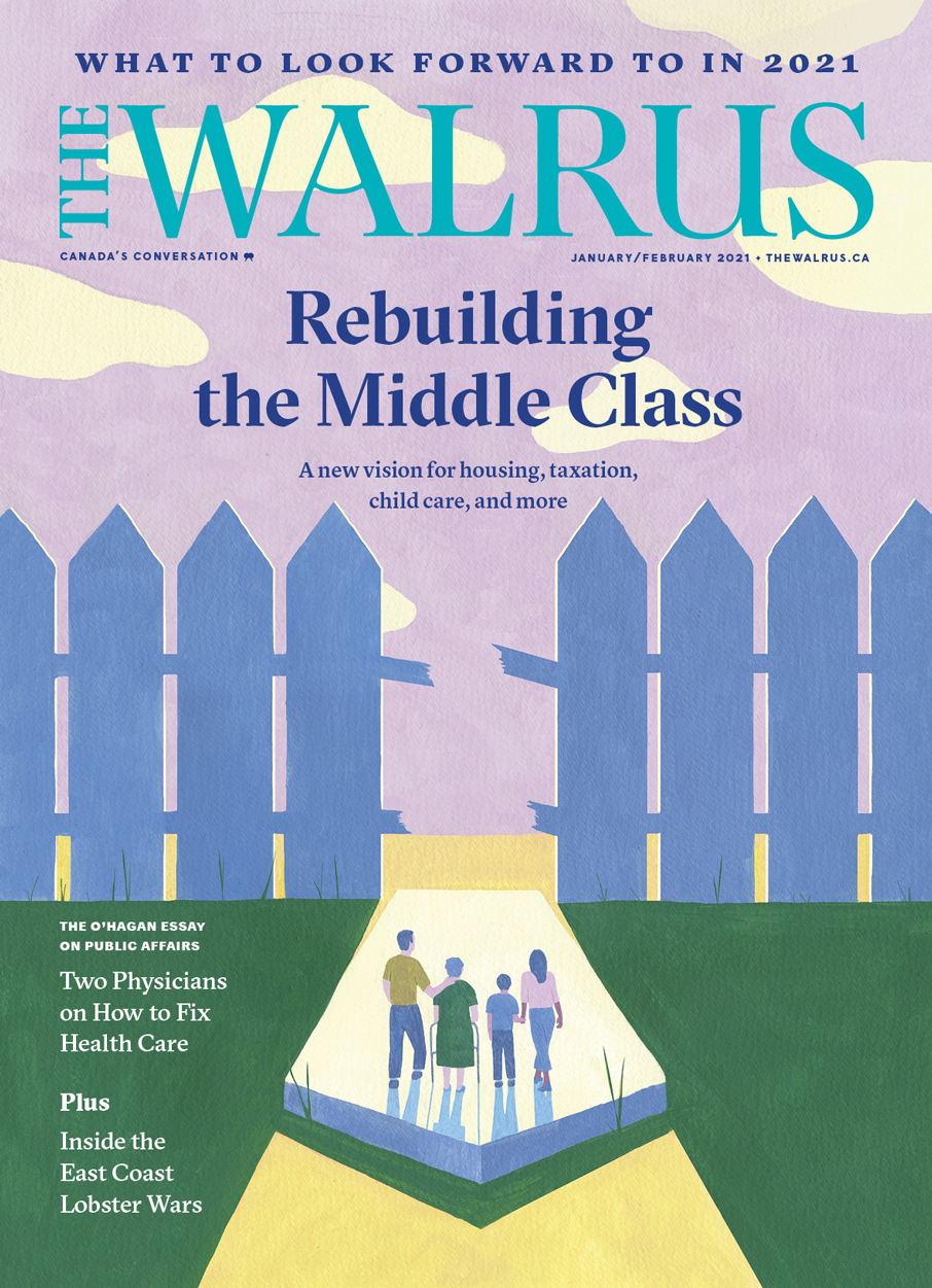 Cover of the Jan/Feb issue of The Walrus magazine.