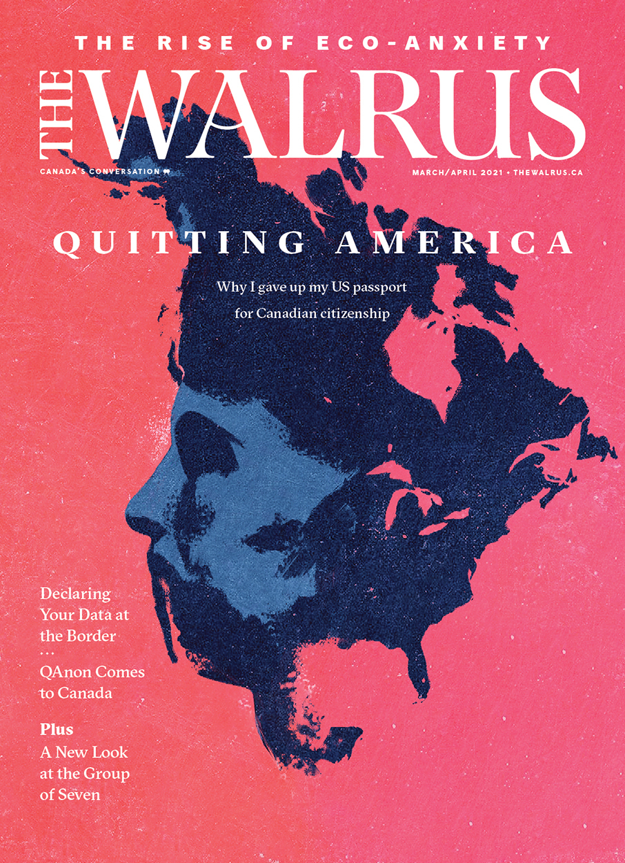 Cover of the Mar/Apr issue of The Walrus magazine.
