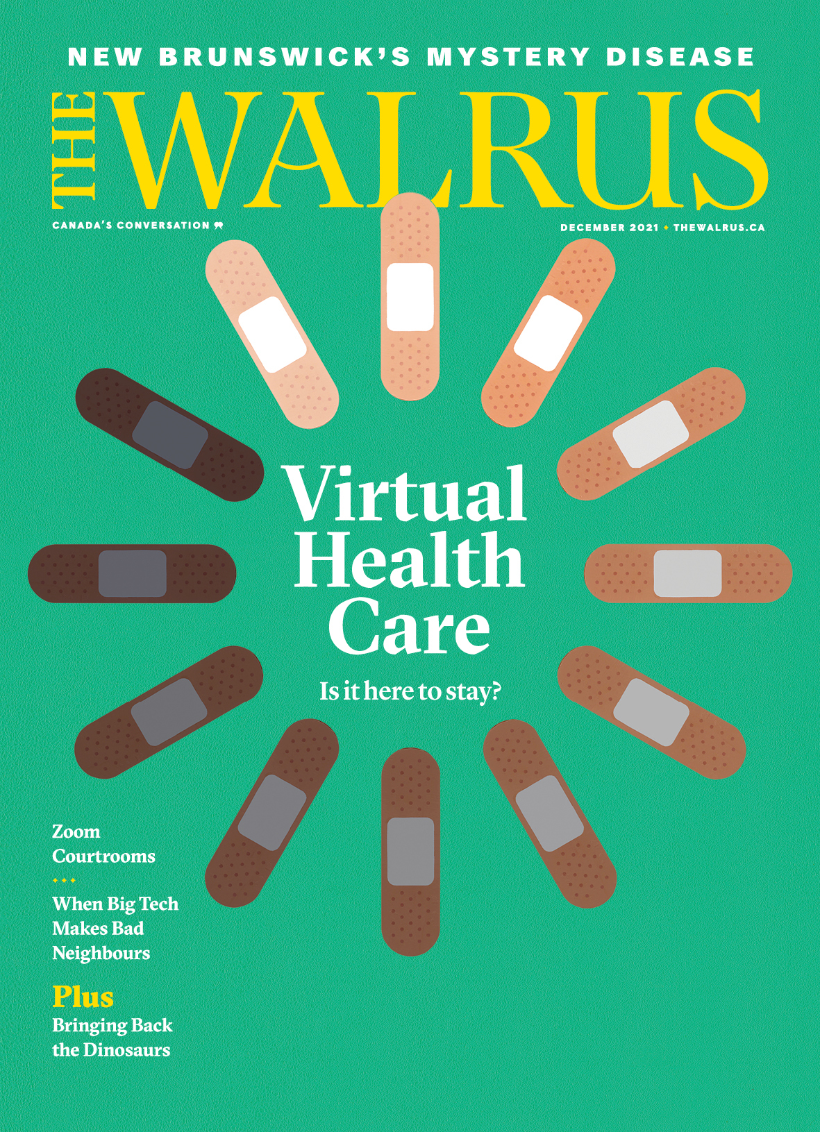Cover of the Dec issue of The Walrus magazine.