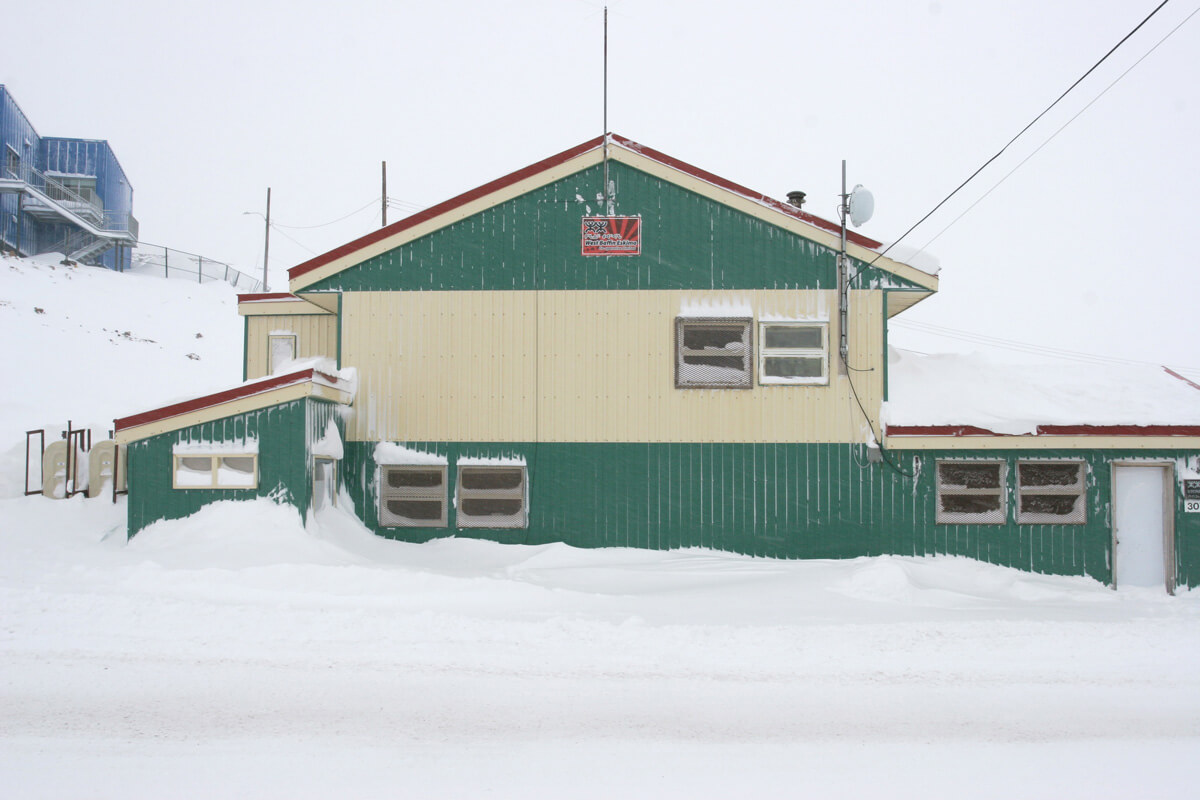 The old West Baffin Eskimo Co-operative buildings in CapeDorset, Nunavut.