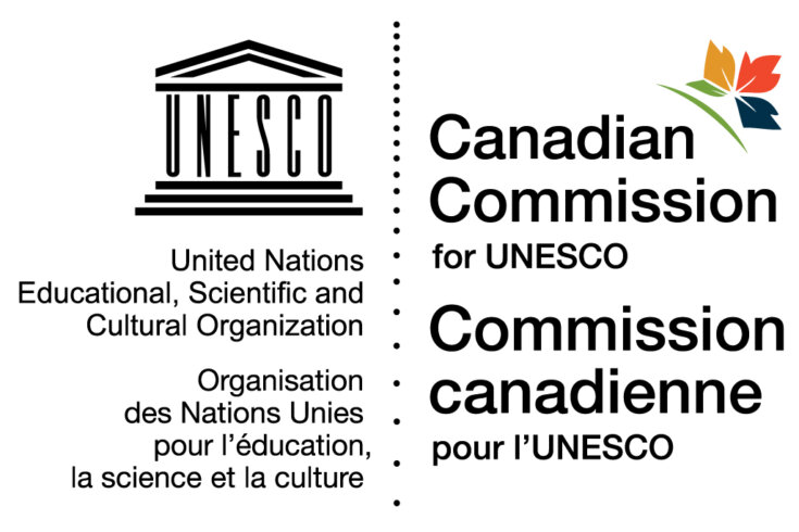 Logo: Canadian Commission for UNESCO, United Nations Educational, Scientific and Cultural Organization / Commission canadienne pour lUNESCO, Organisation des Nations Unies pour leducation, la science et la culture