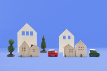 A miniature wooden neighbourhood