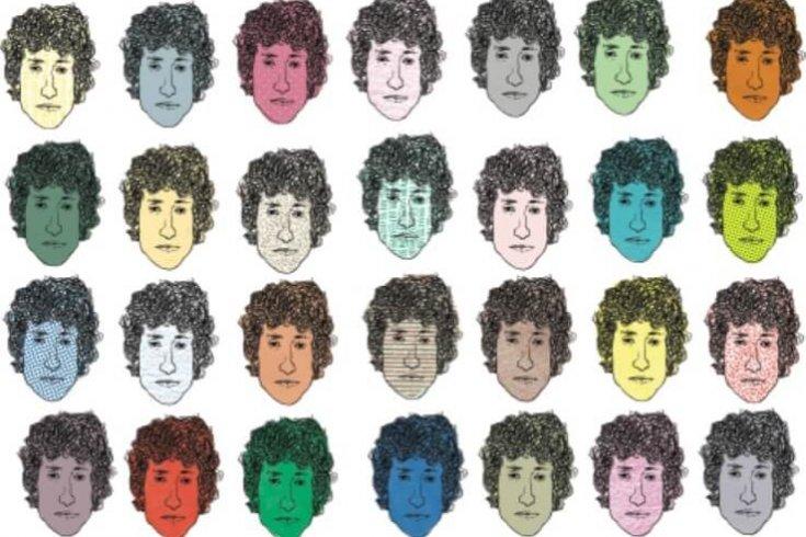 Illustration of multiple bob dylan heads