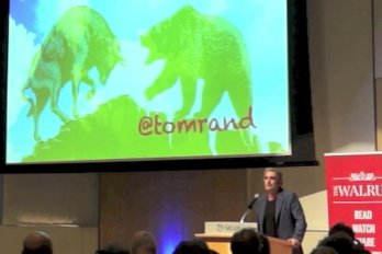Video still of Tom Rand from The Walrus Talks Climate