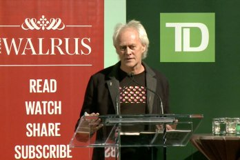 Video still of David Buckland from The Walrus Talks Sustainability