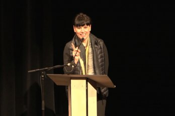 Video still of Nathalie Bondil at The Walrus Talks How to Animate a City