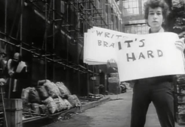 Screenshot from Subterranean Homesick Blues by Bob Dylan