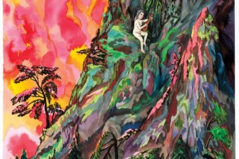 impressionist painting of woman on a cliff