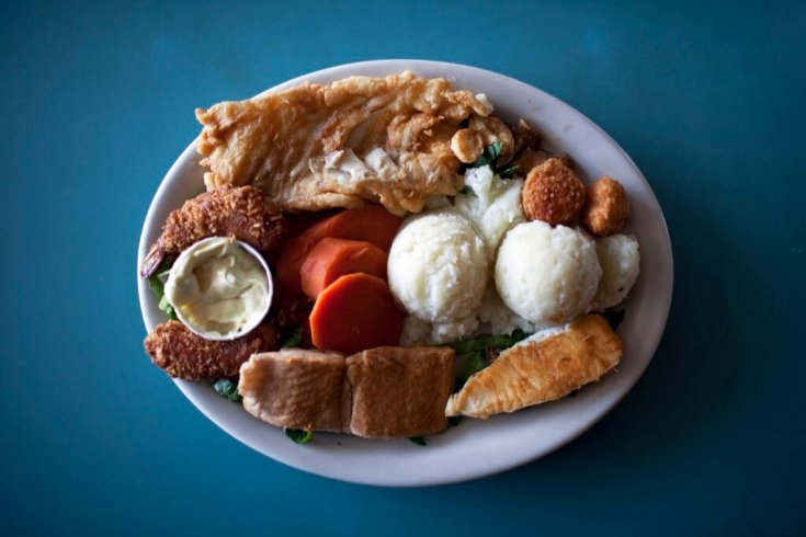 Fish meal, Lilly's Landing Restaurant, Gander, Newfoundland.
