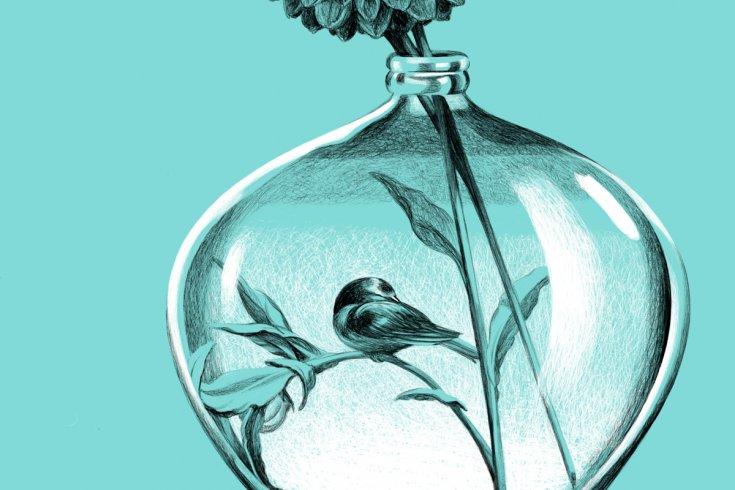 Flower in a vase.