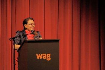 Video still of Tanya Tagaq from The Walrus Talks Arctic