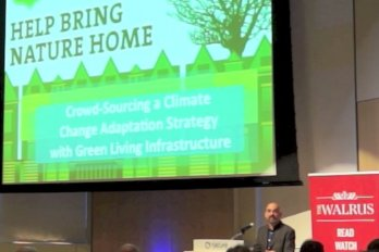 Video still of Faisal Moola from The Walrus Talks Climate