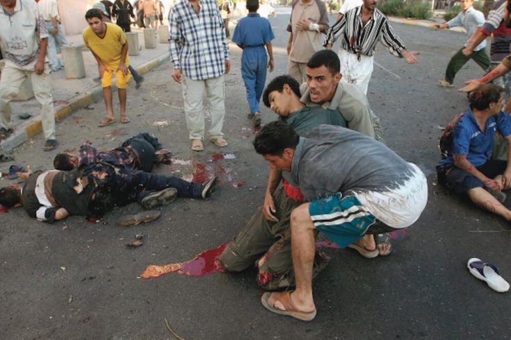 Suicide bombing in baghdad