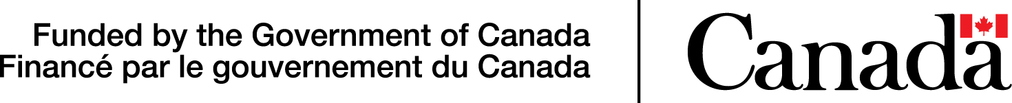 """Logo reading """"Funded by the Government of Canada, Finance par le gouvernement du Canada"""""""