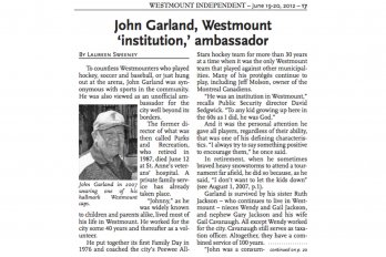 Screenshot of the Westmount Independent
