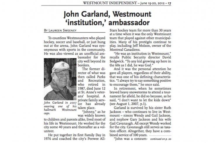 Screenshot of the Westmount Independent