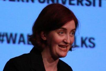 Video still of Emma Donoghue from The Walrus Talks Creativity