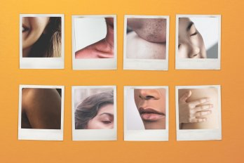 set of polaroid photographs depicting nude people