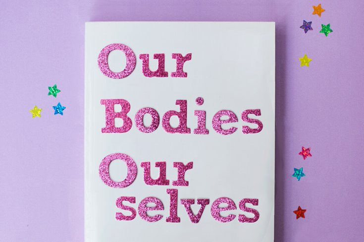 our bodies, our selves written on paper in glitter