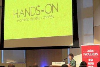 Video still of Liz Miller from The Walrus Talks Climate