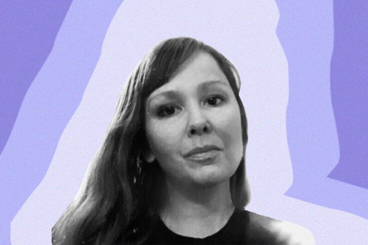 A portrait of poet Evie Christie
