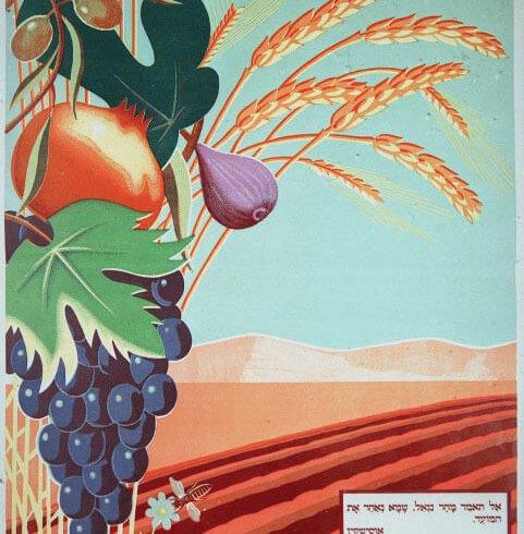 Poster advertising kibbutz in israel