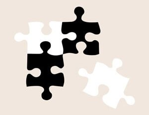 jigsaw pieces on a beige background