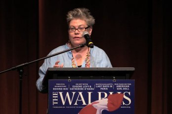 Video still of Alanna Mitchell from The Walrus Talks Water