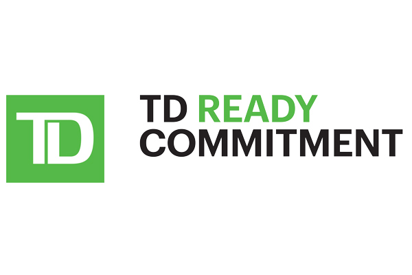 Logo for TD Ready Commitment on a white background.