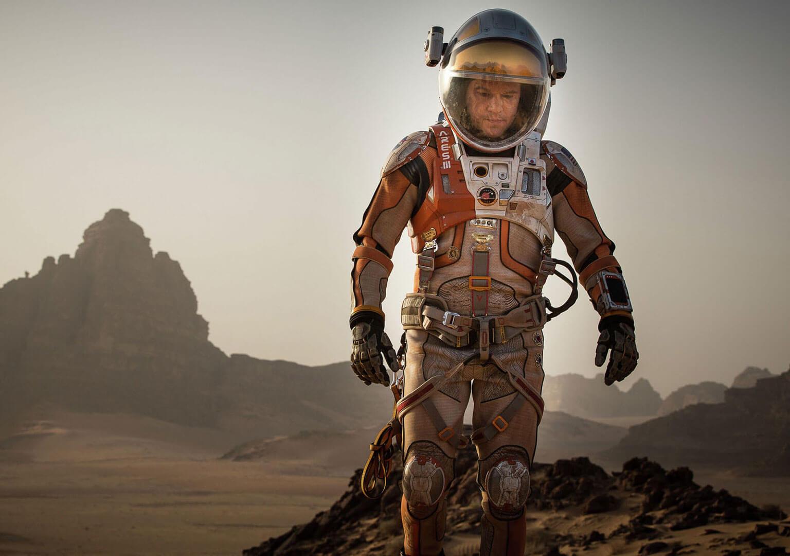 Video still from The Martian