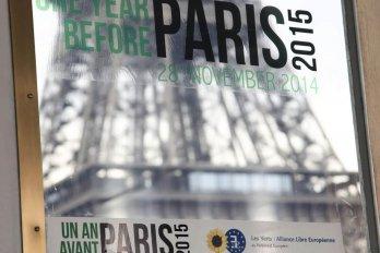 COP21 panel in Paris