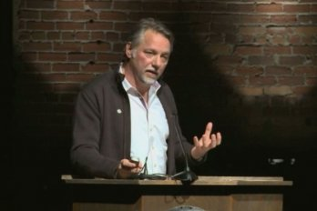 Video still of Edward Burtynsky from The Walrus Talks The Art of the City