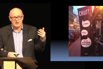 Video still of Will Straw from The Walrus Talks How to Animate a City