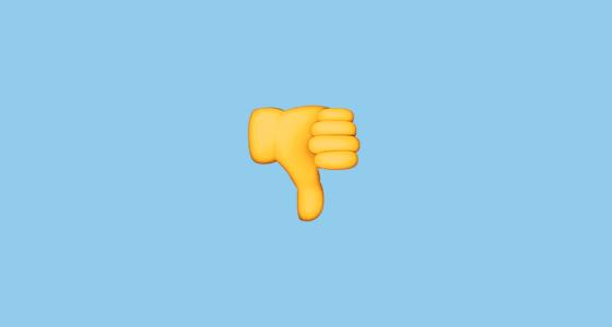 emoji giving thumbs down