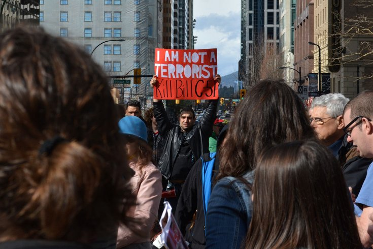 Photograph of Bill C-51 protesters by Jeremy Board