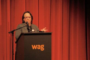 Video still of Sheila Watt-Cloutier from The Walrus Talks Arctic