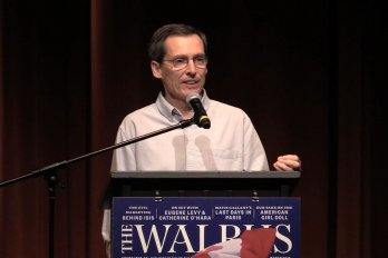 Video still of Stephen Leahy from The Walrus Talks Water
