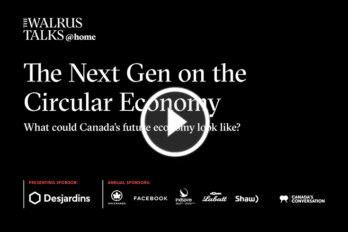 Promo image for The Next Gen on the Circular Economy event on Sept 13, 2021 with a play button.
