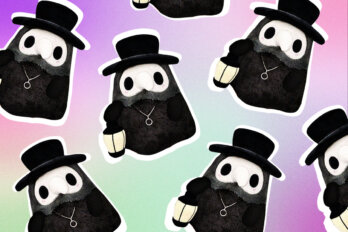 Plague doctor plush toys