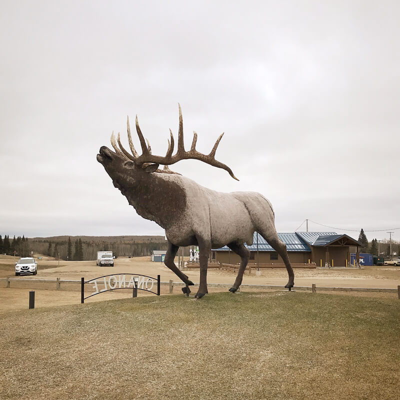 Giant elk structure in Onanole, Manitoba