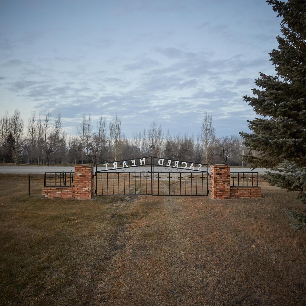 The Sacred Heart Ukrainian Cemetery in Wynyard, Saskatchewan